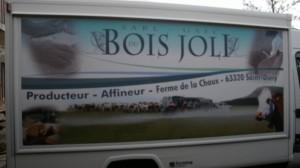 Producteur de Saint-Nectaire fermier - le camion